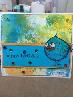 Crazy Birds birthday card