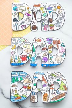 Father's Day Card to Color for Kids