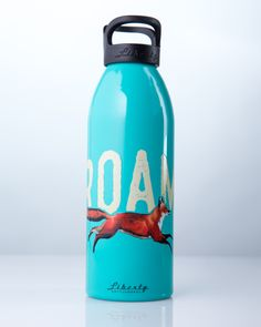 Cute fox water bottle for hiking and camping! Made in the USA from 100% recycled aluminum. BPA-free and 32 oz capacity! Each bottle sold plants a tree with the National Forest Foundation.