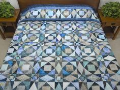 Storm at Sea Quilt -- splendid skillfully made Amish Quilts from Lancaster (hs6139)