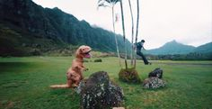 Jurassic Parkours. Weird, Dinosaur, Motion, GIF
