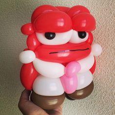 Inside Out Anger #balloonart #insideout #インサイドヘッド