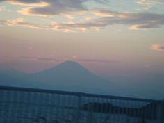 長者ヶ崎付近通過中に見た、富士山