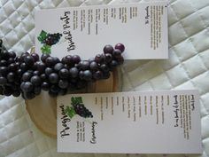 Wine & Chocolate Rustic Vineyard Collection – Ceremony Program created by Above & Beyond – Custom Events & Stationery