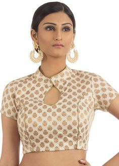 Khaddi Brocade D esigner Blouse - Kurta Designs, Saree Jacket Designs, Cotton Saree Blouse Designs, Brocade Blouse Designs, Saree Blouse Patterns, Simple Blouse Designs, Stylish Blouse Design, Blouse Neck Designs, Blouse Styles