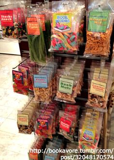 """""""The snacks at the Library of Congress shop, proving no librarian anywhere can resist a pun."""" - Bookavore"""