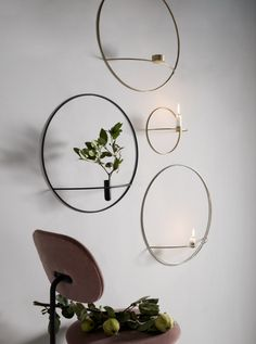 MENU | POV Candleholder, Tealight Candleholder and Vase, in Brass, Black and Silver, by Note Design Studio