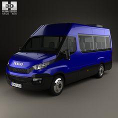 7cd38c1353 3D model of Iveco Daily Passenger Van 2014
