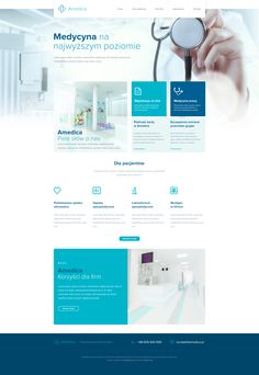 Great work from a designer in the Dribbble community; your best resource to discover and connect with designers worldwide. Website Layout, Web Layout, Layout Design, Medical Sites, Site Vitrine, Free Web Design, Web Design Quotes, Homepage Design, Medical Design