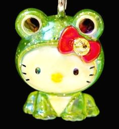 Hello Kitty X Cute Frog Baby Swarovski Element Crystal Japan Charm Pendant Christmas Decorations, Christmas Ornaments, Holiday Decor, Hello Kitty Christmas, Hello Kitty Items, Cute Frogs, Sweet Memories, Sanrio, Kittens Cutest
