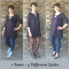 3 different and flattering ways to wear a tunic