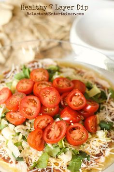 To-do. Healthy 7 Layer Bean Dip Recipe | reluctantentertainer.com