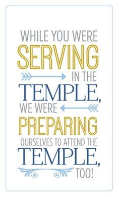 """Activity Days: """"Preparing for the Temple"""" Service Project"""