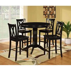 """Suprisingly, this set is from Wal-mart and I have to say, I'm really liking it! It's 42"""" in diameter and is a pub style table."""