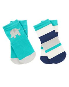 Elephant Socks Two-Pack