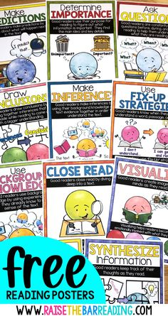 Free Reading Strategies Posters