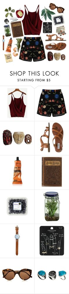 """Tiki"" by tia-b56 ❤ liked on Polyvore featuring Miss Selfridge, Steve Madden, Aesop, BOBBY, Alöe, Topshop, Illesteva and ASOS"