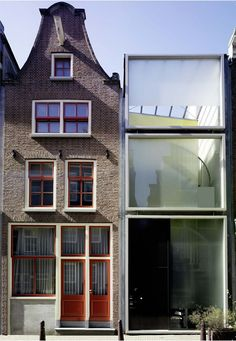 Claus en Kaan Architecten - Haarlemmerbuurt Housing, Amsterdam. 1995 old vs new! #architecture