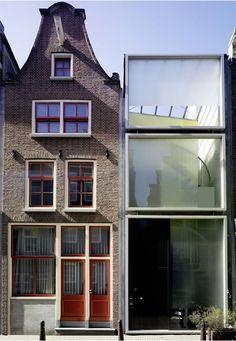 Claus en Kaan Architecten- Haarlemmerbuurt Housing, Amsterdam. 1995 old vs new! #architecture