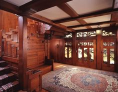 The gorgeous Gamble House by brothers Charles and Henry Greene in the California bungalow style, 1908.