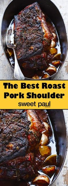 Pork shoulder is a dinner host's best friend. Set this in the oven to roast hours before guests arrive and you will be sitting pretty at dinner time.