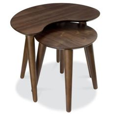 Bentley Designs Oslo Walnut Nest of Tables | Furniture123