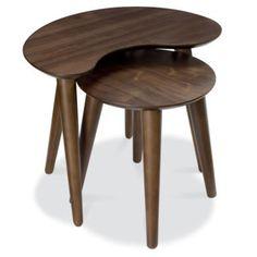 Bentley Designs Oslo Walnut Nest of Tables   Furniture123