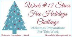 Stress Free Holidays week 12