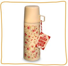 Keep your coffee nice and toasty in this vintage-inspired rose flask by Marmalade 250.