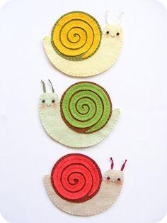 PDF pattern Funny felt snail coasters Fall mug rug by iManuFatti