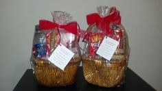 A couple of cute baskets we donated for a prom dress giveaway event for Delta Sigma Theta! #giftbaskets #lovinthisgiftbasketlife