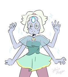 what opal looks like in pearl's and ameythast's old outfits