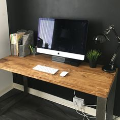 Rustic Wooden Desk Made From Reclaimed Scaffold Boards & | Etsy