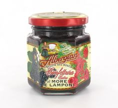 Blackberry and raspberry jam: made with fruit, sugar and tradition. The taste of italian food. http://www.albergian.it/shop/confetture-e-marmellate/confettura-mista-di-more-e-lamponi/