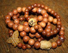 Wooden bead bracelet/ stretch bracelet/ by brokengypsybracelets
