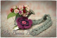 Dummy Chain - Fleur Fuschia-Pourpre Crochet Accessories, Little Miss, Beanie Hats, Boy Or Girl, Crochet Earrings, Colours, Texture, Chain, Purple