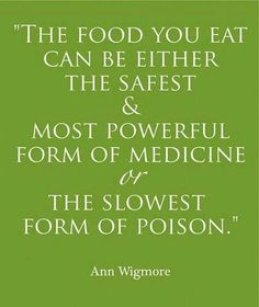 Select your food wisely.