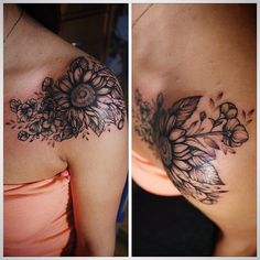 Image result for Sunflower Sleeve Tattoos lace
