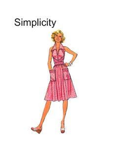 Vintage 1970s Simplicity 7432 Misses Wing Collar Halter