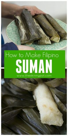 How to Cook Suman that Actually Tastes Like Suman Plus Video - chrySSa recipes Philipinische Desserts, Tolle Desserts, Asian Desserts, Asian Recipes, Pinoy Dessert, Filipino Desserts, Filipino Food, Filipino Appetizers, Easy Filipino Recipes