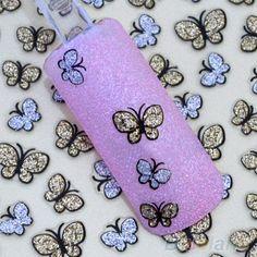 Glitter Butterfly Design Nail Art Stickers by HighClassNailsss