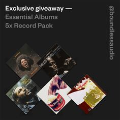 Exclusive Giveaway — Essential Albums 5 X Vinyl Record Packtt