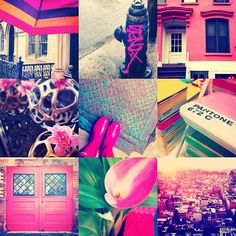 Girly collage: pink moments.