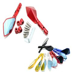 38.94$  Watch now - http://ali6i3.shopchina.info/go.php?t=32770368433 - new Motorcycle accessories side Mirror CNC Aluminium Mirror Rearview mirrors For Kawasaki KTM DUKE200 DUKE390 DUKE690 DUKE990 38.94$ #magazineonlinewebsite