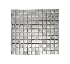Slate Silver Square Mosaic
