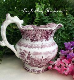 Mulberry Transferware Pitcher  Persian Palace Antique T.