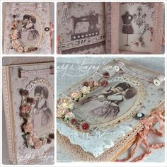 """Book Card created by Sandra Mathis, using image and papers from Pion Design's """"Alma's Sewing Room"""" collection."""