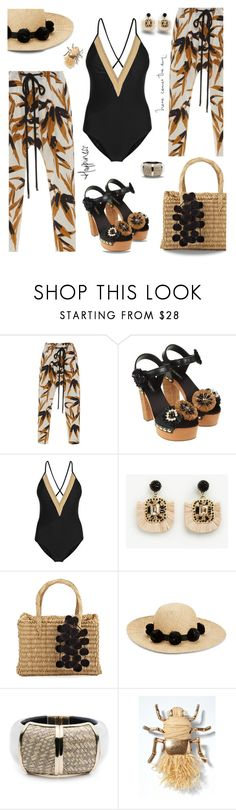 """Raffia on the beach"" by nineseventyseven ❤ liked on Polyvore featuring Marni, Dolce&Gabbana, Ann Taylor, Nannacay, Kate Spade, Alexis Bittar, Banana Republic, raffia and contestentry"