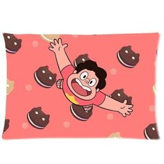 Pookeb Cookie Cat Steven Universe Cartoon Pillow Cover Design For Kids Zippered Rectangular Pillowcase Personalized Throw Pillowcases Decorative Sofa Or Bed Pillow Case Cover 20x30(2 Sides) Great Gifts For Friends Or Families ** Insider's special offer that you can't miss : Decorative Pillows