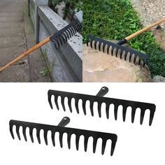 2 Pcs High Quality Garden stainless steel Rake Head Garden Lawn Good quality and Durable. Rake Head, Rust Paint, High Carbon Steel, Garden Tools, Lawn, Stainless Steel, Yard Tools, Grass
